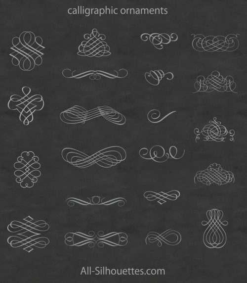 calligraphic-ornaments-free-vector