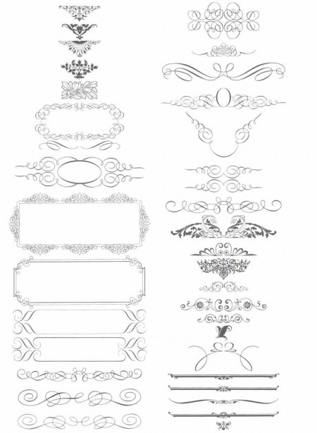 Calligraphic Style Ornaments – by ~YSR1 ...