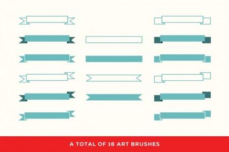 Riband – Illustrator Art Brushes 2