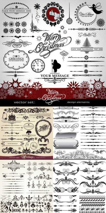 christmas-ornaments-and-design-elements-vector-450x900