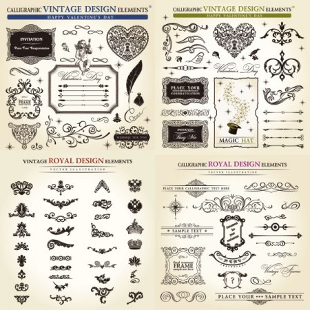 classical-vintage-royal-design-elements-set-450x450