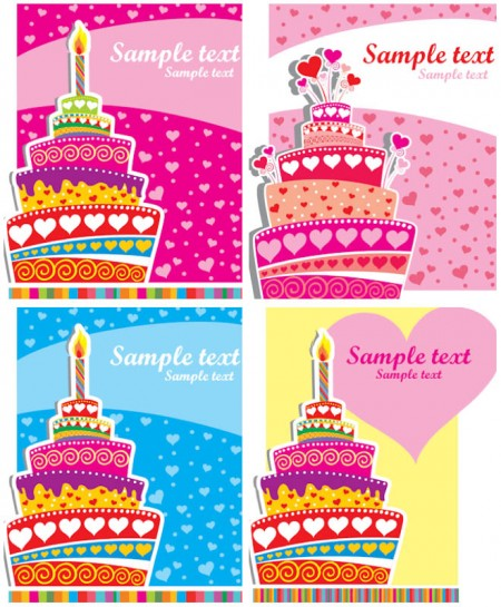 colorful-happy-birthday-card-templates-vector-450x545