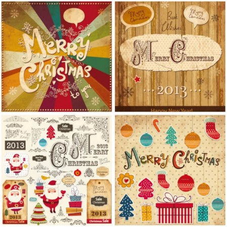 decorative-vintage-christmas-decorations-vector-450x450