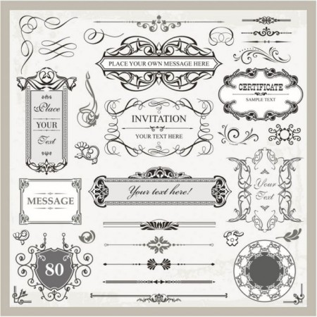 decorative-wedding-frames-vector-450x450