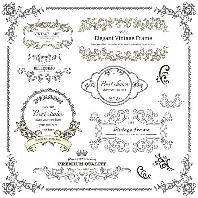 elegant-vintage-frame-cdr-vector-450x450