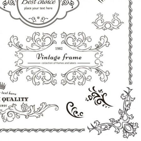 elegant-vintage-frame-cdr-vector1-450x450