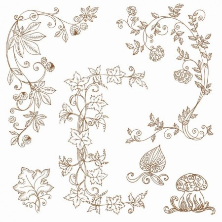 floral-fall-ornaments-vector-03-450x450