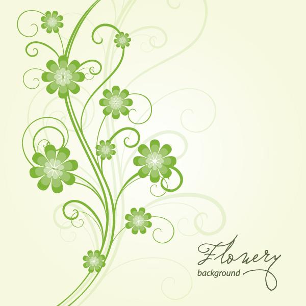 上品な色調でセンスある花のイラスト素材eps Free Style All Free