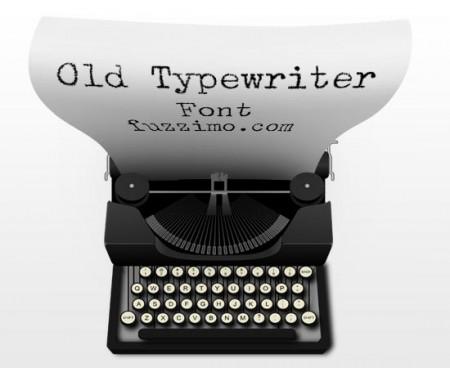 free-old-typewriter-font-450x368