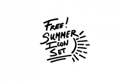 free summer icon set