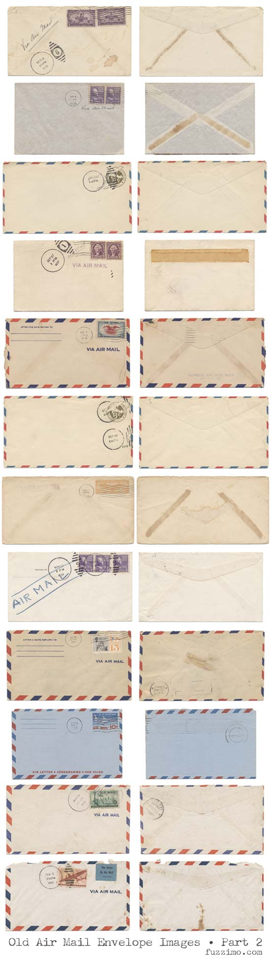 Free Hi-Res Old Air Mail Envelope Images 2 ...