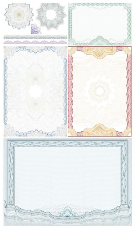 guilloche-frames-vector