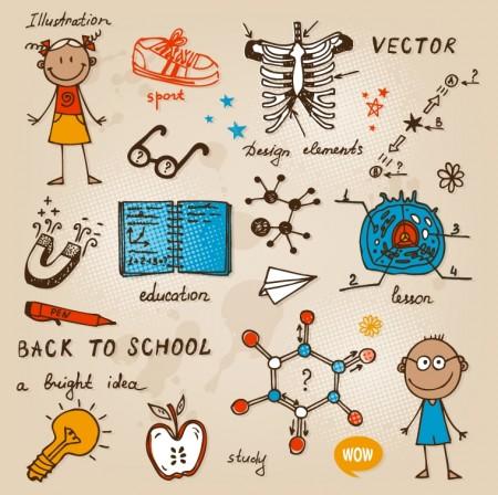 hand-drawn-school-doodles-vector02-450x448