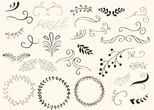 hand-drawn-swirls-and-wreath-vectors-500x356