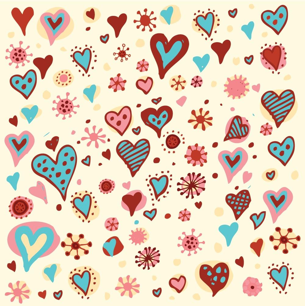 すべての講義 包装紙 素材 : Day Valentine Heart Pattern