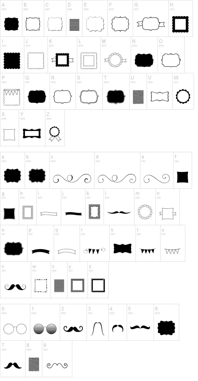 これいい! フォントで楽しむかわいいフレームや飾り枠など5種類(ttf