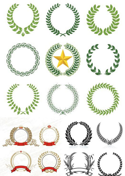 laurel-wreaths-pattern-design