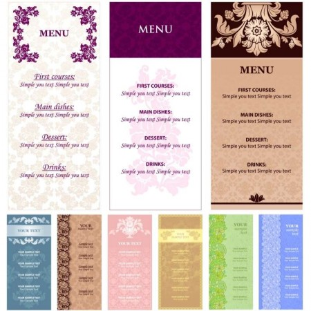 menu-templates-with-flowers-vector-450x450