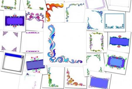 ms border 450x306 無料でダウンロード出来るベクター飾り枠やイラスト素材(マイクロソフト)   Free Style