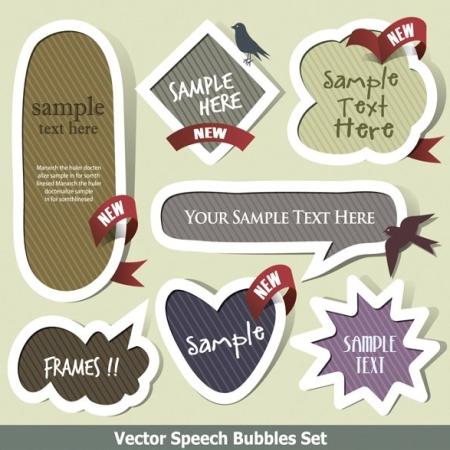 nice speech bubbles 01 吹き出し風でポップなラベル素材が33種類!(VECTOR)   Free Style