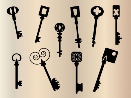 old-keys-silhouette