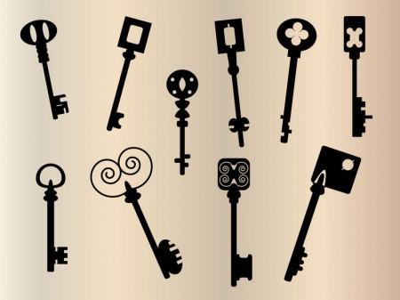 old-keys-silhouette-450x337
