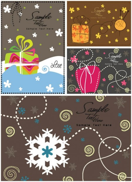 retro-christmas-greeting-cards-vector-450x620