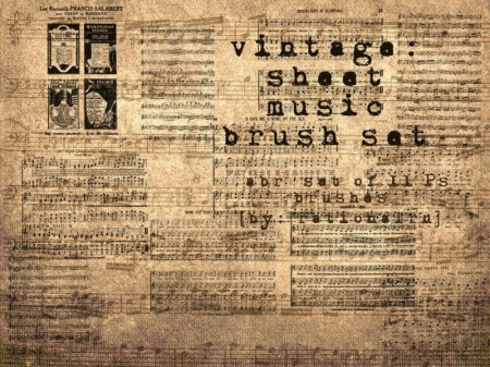 sheet-of-music-vintage-brushes