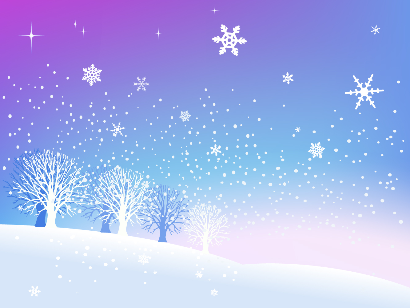 Free Vector Art Snow Scenes