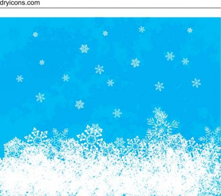 snow 450x400 雪の結晶(Snow crystal)をモチーフにしたイラスト素材いろいろ(vector)    Free Style