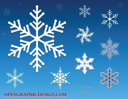 snowflakes 450x347 雪の結晶(Snow crystal)をモチーフにしたイラスト素材いろいろ(vector)    Free Style
