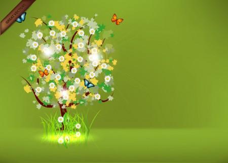 spring-tree-vector