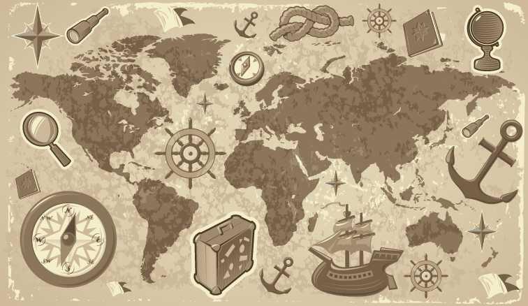 ヴィンテージな地図の無料素材いろいろ(VECTOR・PSD・ABRなど) - Free-Styl