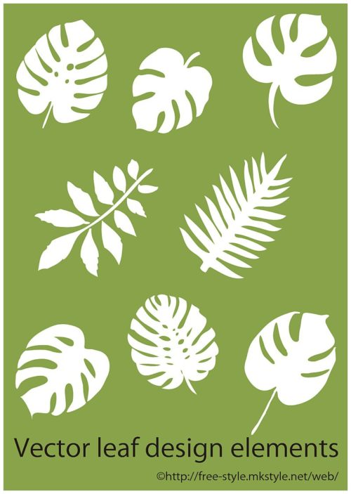 tropical_leaf_elements-500x703