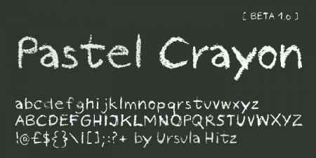 ursulahitz02 450x225 黒板に書いたチョークみたいな英字フリーフォントまとめ   Free Style