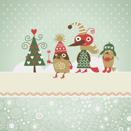 vector-Christmas-Cartoon-card-450x449