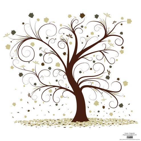 friendship tree template - ai eps svg free style