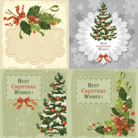 vintage-christmas-cards-vector-450x450