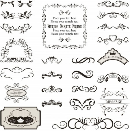 vintage-decorated-frame-templates-vector-450x451