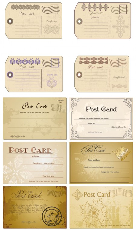 vintage-postcards-set-vector-450x759