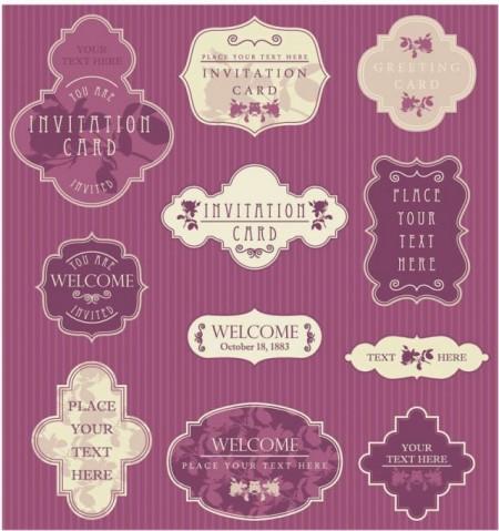 vintage-wedding-labels-vector-450x479