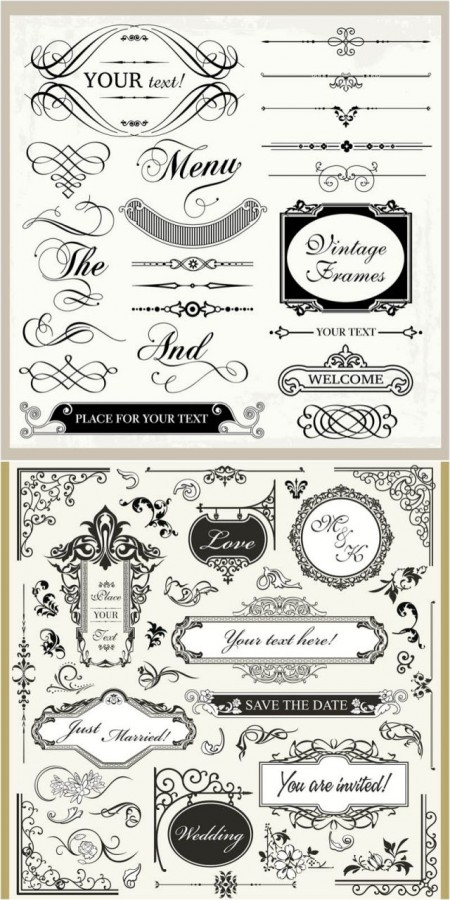 vintage-wedding-ornaments-vector-450x900