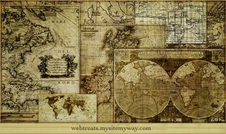 webtreatsetc map brushes 450x268 ヴィンテージな地図の無料素材いろいろ(VECTOR・PSD・ABRなど)   Free Style