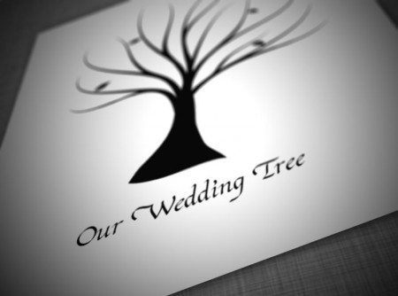 wedding tree vector sample